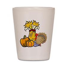 Thanksgiving Harvest Shot Glass