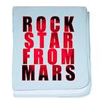 Rock Star From Mars baby blanket