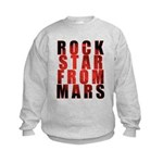 Rock Star From Mars Kids Sweatshirt