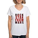 Rock Star From Mars Women's V-Neck T-Shirt