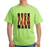 Rock Star From Mars Green T-Shirt