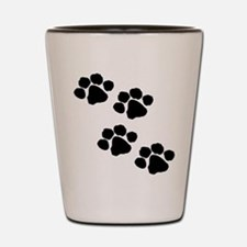 Pet Paw Prints Shot Glass