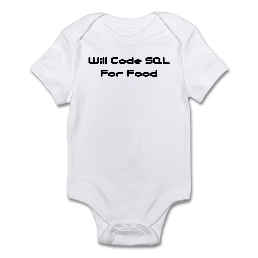 51620295 CafePress Will Code SQL For Food Infant Creeper Baby Bodysuit