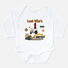 Construction 1st Birthday Long Sleeve Infant Bodys