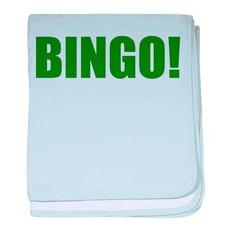 BINGO! green-text baby blanket