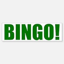 BINGO! green-text Bumper Bumper Sticker