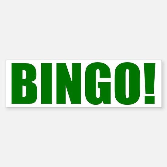 BINGO! green-text Sticker (Bumper)
