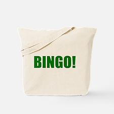 BINGO! green-text Tote Bag