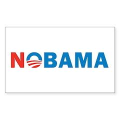 Nobama Sticker (Rectangle 10 pk)