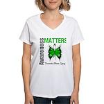 TBI Awareness Matters Women's V-Neck T-Shirt