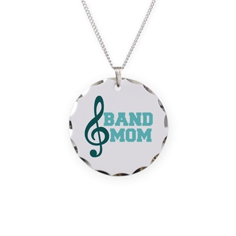 Treble Clef Band Mom Necklace Circle Charm