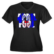 April Fool Women's Plus Size V-Neck Dark T-Shirt