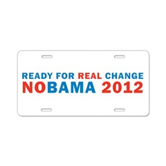Real Change Aluminum License Plate