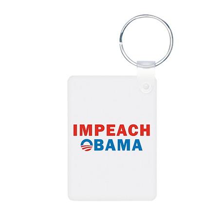 Impeach Obama Aluminum Photo Keychain
