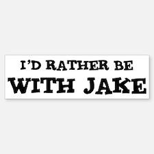 With Jake Bumper Bumper Bumper Sticker