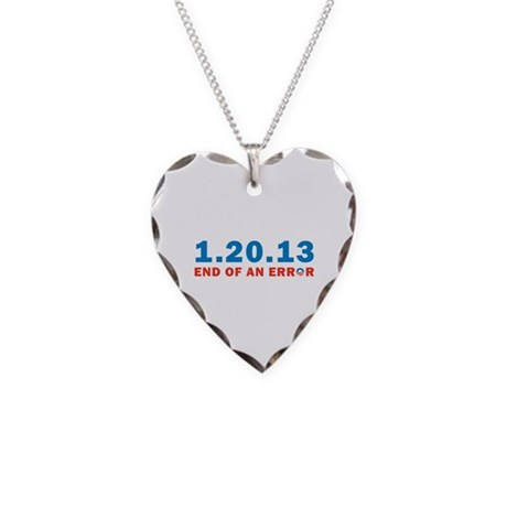 End Of Error Necklace Heart Charm