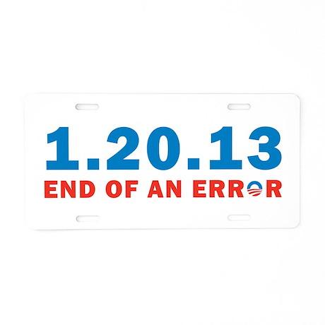 End Of Error Aluminum License Plate