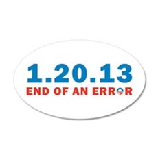 End Of Error 22x14 Oval Wall Peel