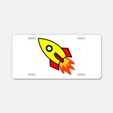 Rocket Aluminum License Plate
