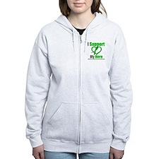TBI I Support My Hero Zip Hoodie