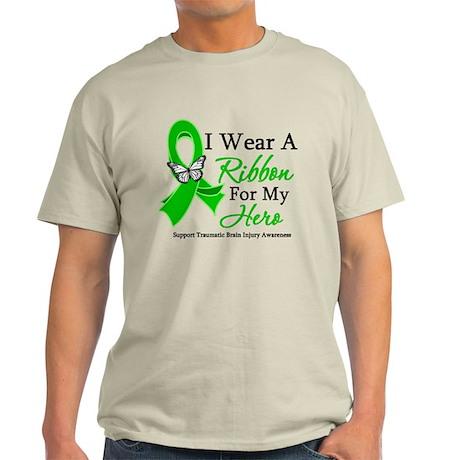 TBI I Wear A Ribbon Hero Light T-Shirt