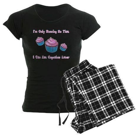I'm Only Running So That I Ca Women's Dark Pajamas