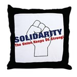 Solidarity - White State - Fi Throw Pillow