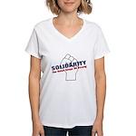 Solidarity - White State - Fi Women's V-Neck T-Shi