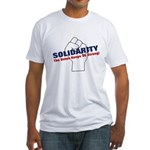 Solidarity - White State - Fi Fitted T-Shirt