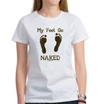 My feet go naked Women's T-Shirt