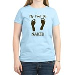 My feet go naked Women's Light T-Shirt