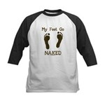 My feet go naked Kids Baseball Jersey