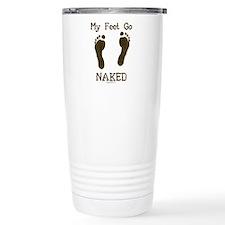 My feet go naked Travel Mug