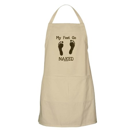 My feet go naked Apron