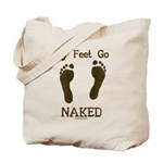 My feet go naked Tote Bag