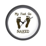 My feet go naked Wall Clock