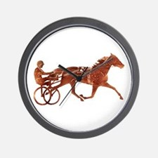 Brown Pacer Silhouette Wall Clock