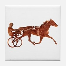 Brown Pacer Silhouette Tile Coaster