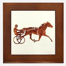 Brown Pacer Silhouette Framed Tile