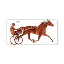 Brown Pacer Silhouette Aluminum License Plate