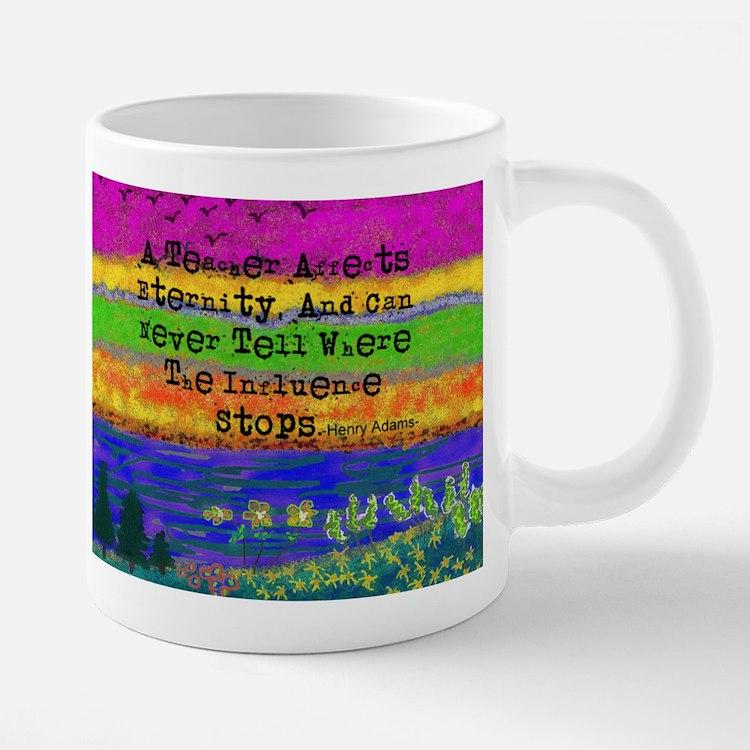 Watercolor Retired TEacher  20 oz Ceramic Mega Mug