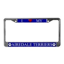 Blue I Love My Airedale Terriers Frame