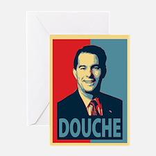 Scott Walker Douche Greeting Card