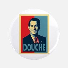 "Scott Walker Douche 3.5"" Button"