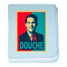 Scott Walker Douche baby blanket