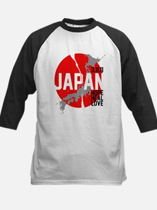 Japan Hope Heal Love Kids Baseball Jersey