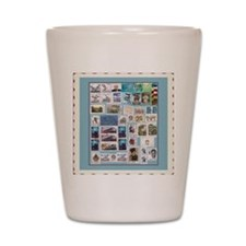 Philatelist Shot Glass