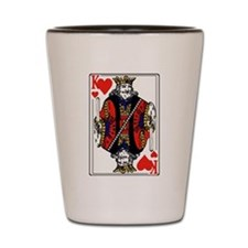 King of Hearts Shot Glass