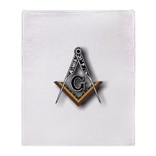 Masonic Square and Compass Throw Blanket