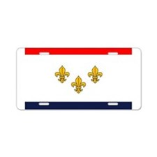 Flag of New Orleans Aluminum License Plate